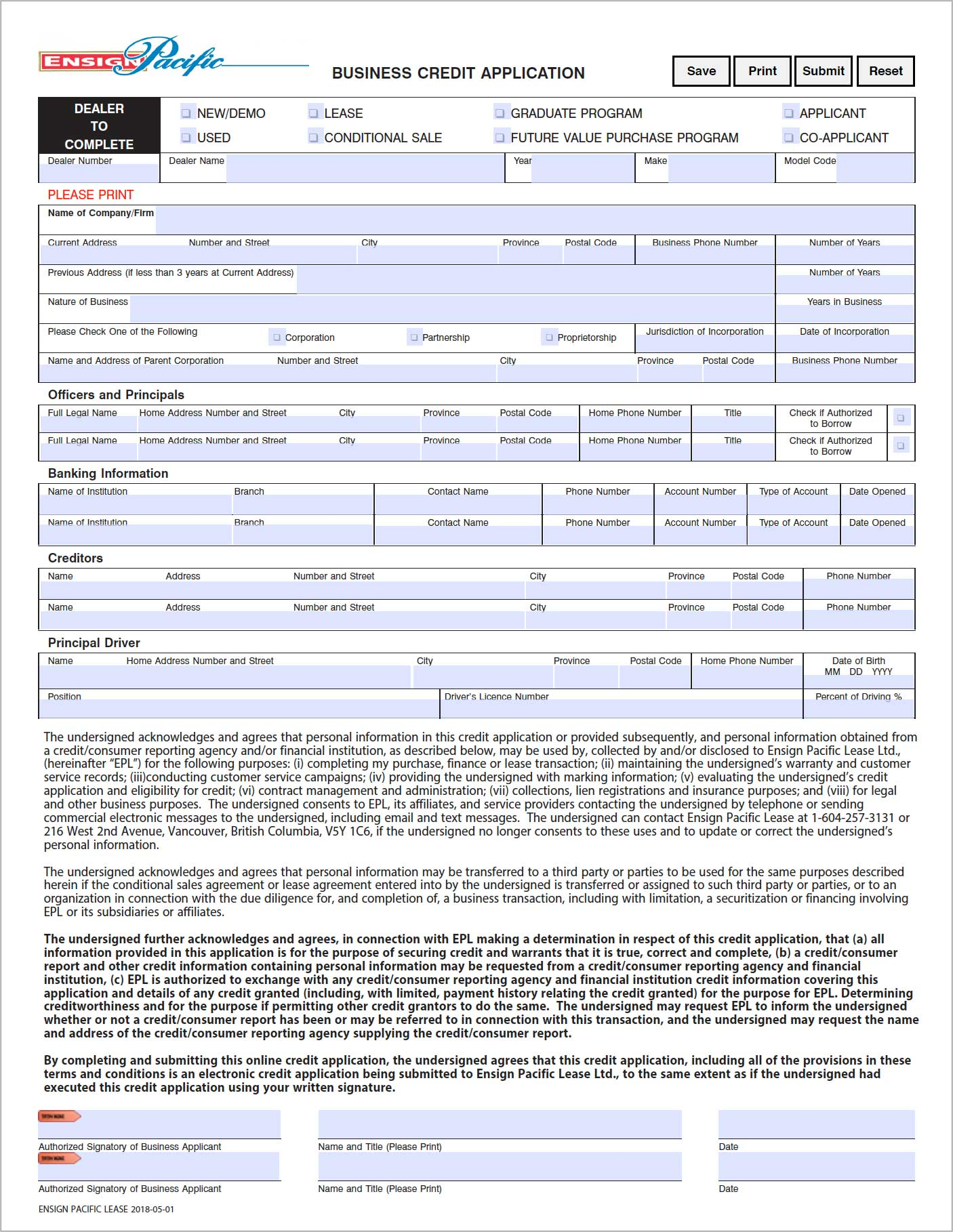 Ensign-Pacific-Lease-Business-Credit-Application Finance