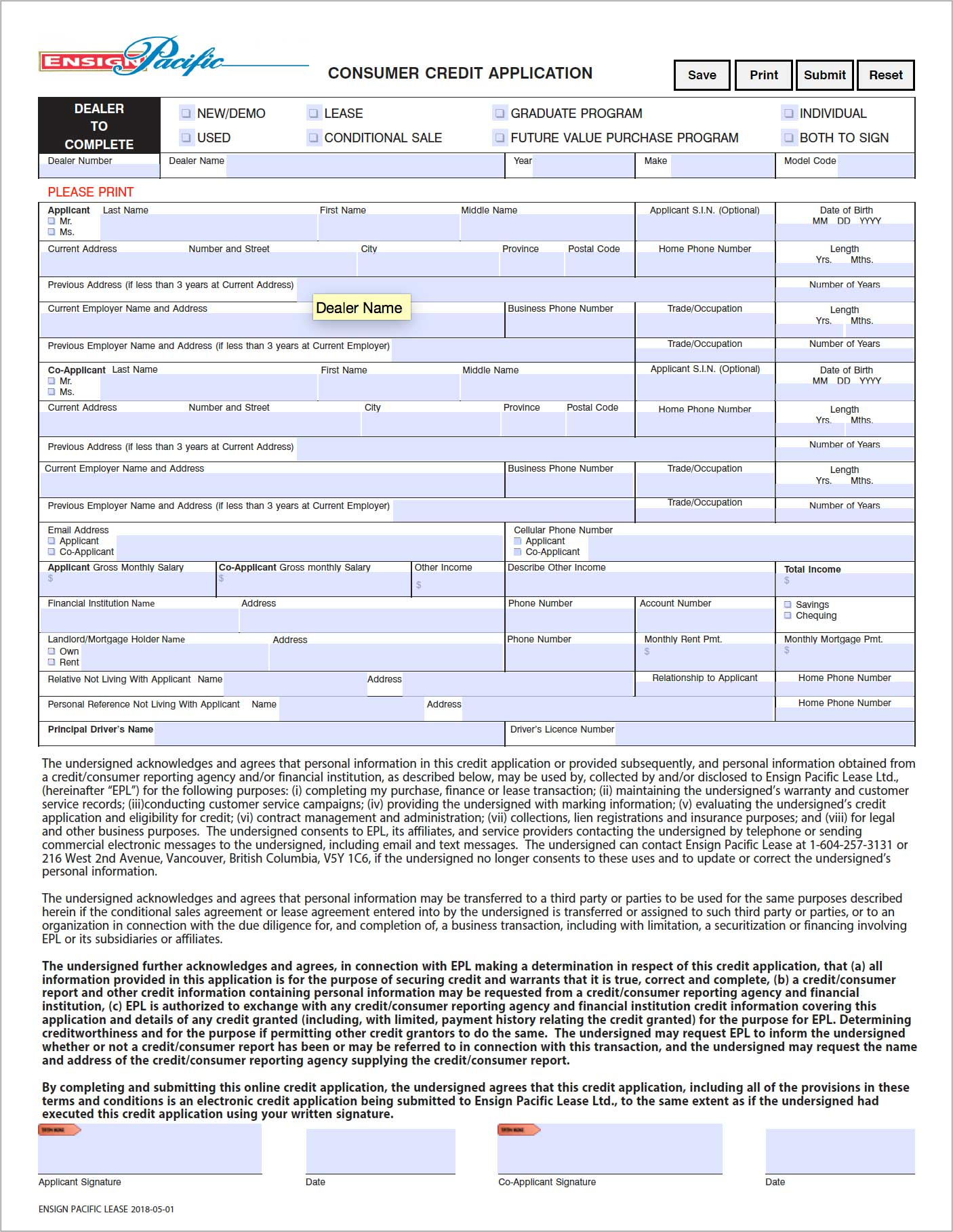 Ensign-Pacific-Lease-Consumer-Credit-Application Finance